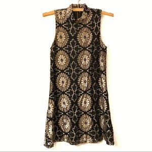 Mimi Chica Lace Overlay Sleeveless Dress XS